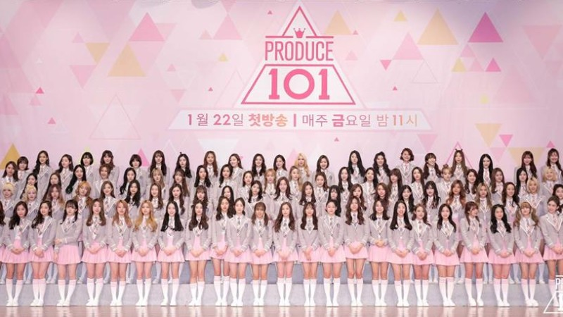 Mnet Displays Produce 101 Girl Organization Name