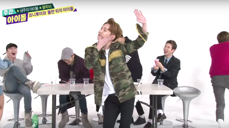 Watch: Block B Hilariously Reenacts Girl Organization Dances on Weekly Idol