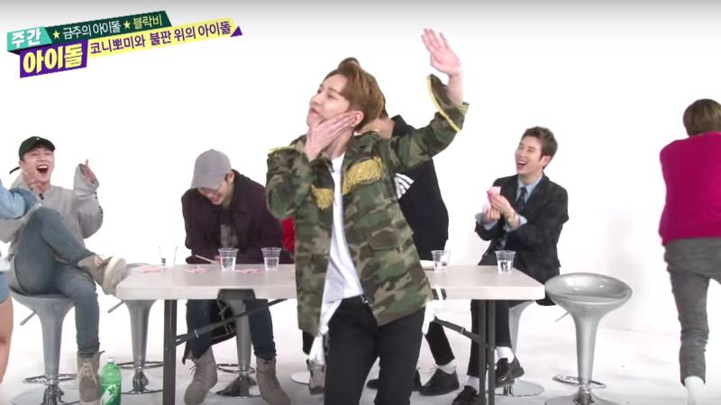 Watch: Block B Hilariously Reenacts Girl Organization Dances on Weekly Idol