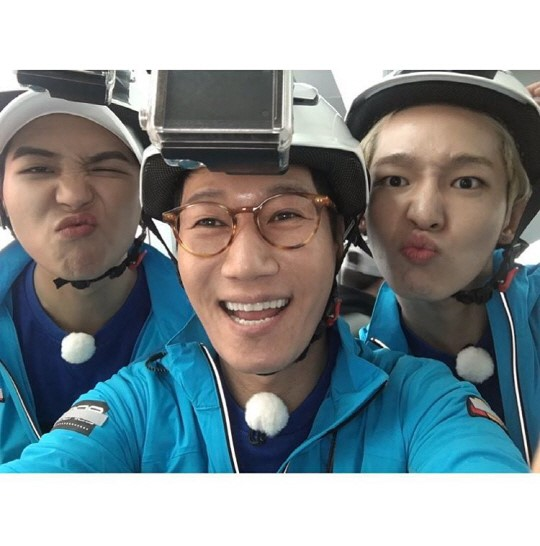 Ji Suk Jin Displays Cute Selfie With Song Mino and Nam Tae Hyun From Running Man Filming