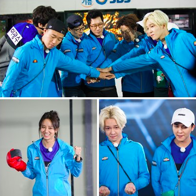 "Watch: Hyeri, Song Mino, and Nam Tae Hyun Wrestle Robots on ""Running Man"""