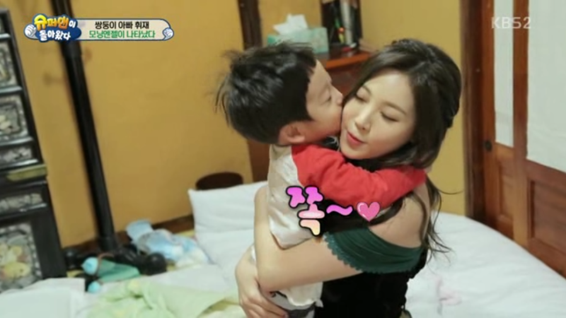"Seo Eon and Seo Jun Fall Head Over Heels for Girl's Day's Yura on ""The Return of Superman"""