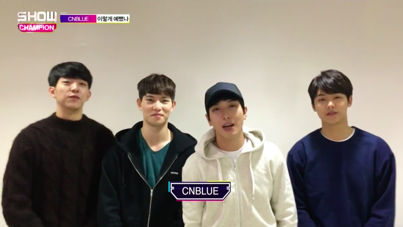 "CNBLUE Takes 2nd Win for ""You're So Fine"" on ""Show Champion"""