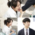"Hyeri Tries To Bite Kang Min Hyuk's Hand On ""Entertainer"" Set"
