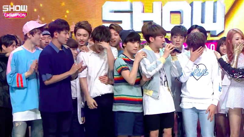 "SEVENTEEN Tears Up Over 1st Ever Music Show Win On ""Show Champion"" For ""Pretty U, Performances By VIXX, Lovelyz, And More"