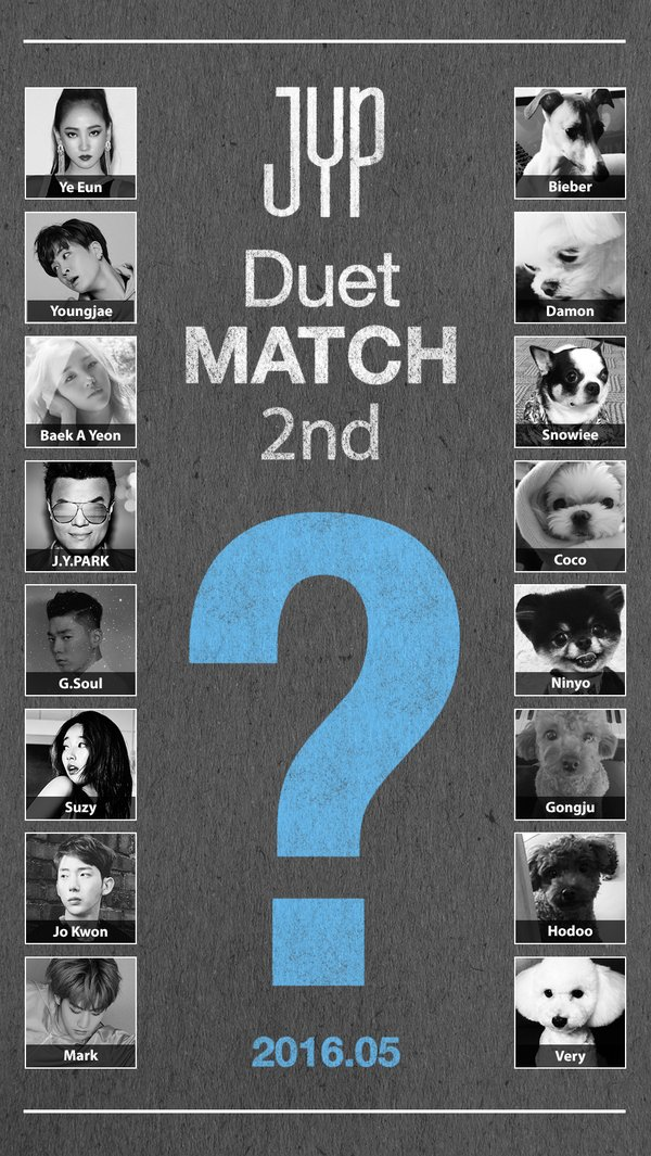 JYP Shares Teaser For 2nd Duet Match Featuring… JYP Nation's Pet Dogs?