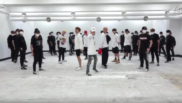 """Watch: BTS Sets Studio On """"Fire"""" In Dance Practice Clip"""