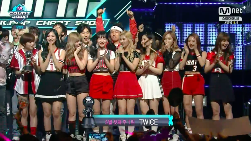 "TWICE Grabs 4th Win For ""Cheer Up"" On ""M!Countdown,"" Performances By Tiffany, AOA, SEVENTEEN, And More"
