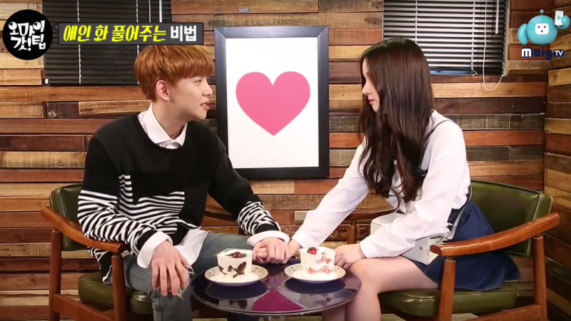 Watch: Block Bs Park Kyung And GFRIENDs Eunha Shows How To Make Up After Couple Fight