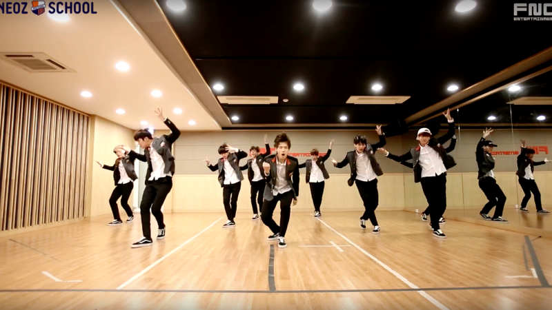 "Watch: FNC NEOZ SCHOOL Dance Team Covers BTS and Block B For First Mission On ""d.o.b"""