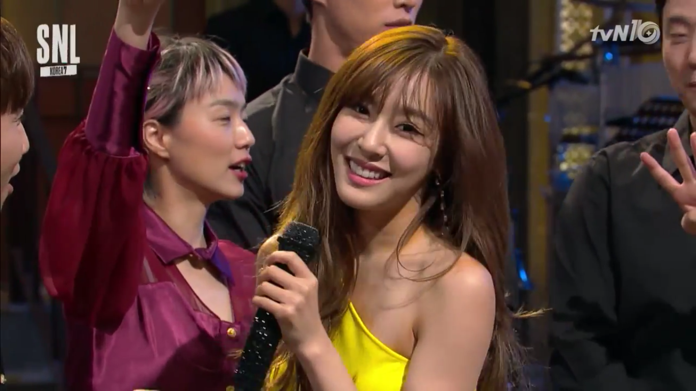 "Watch: Tiffany Dances To Crazy Fast Versions Of ""Tell Me Your Wish (Genie)"" On ""SNL Korea"""
