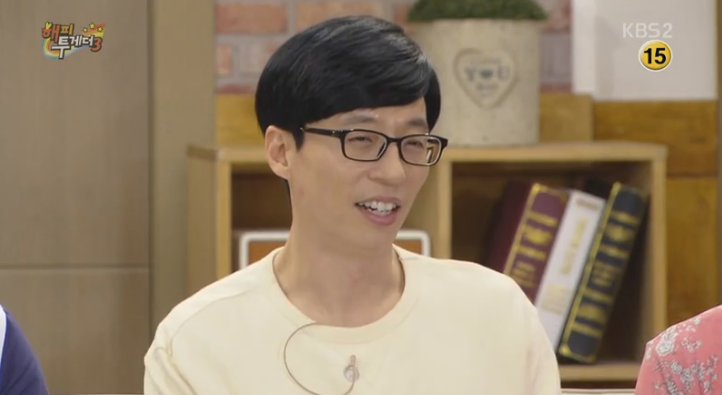 """Yoo Jae Suk Says His Son Is Just Like Him On """"Happy Together"""""""