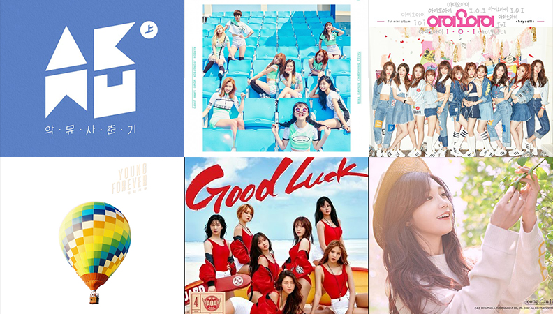 Weekly K-Pop Music Chart 2016 – June Week 1