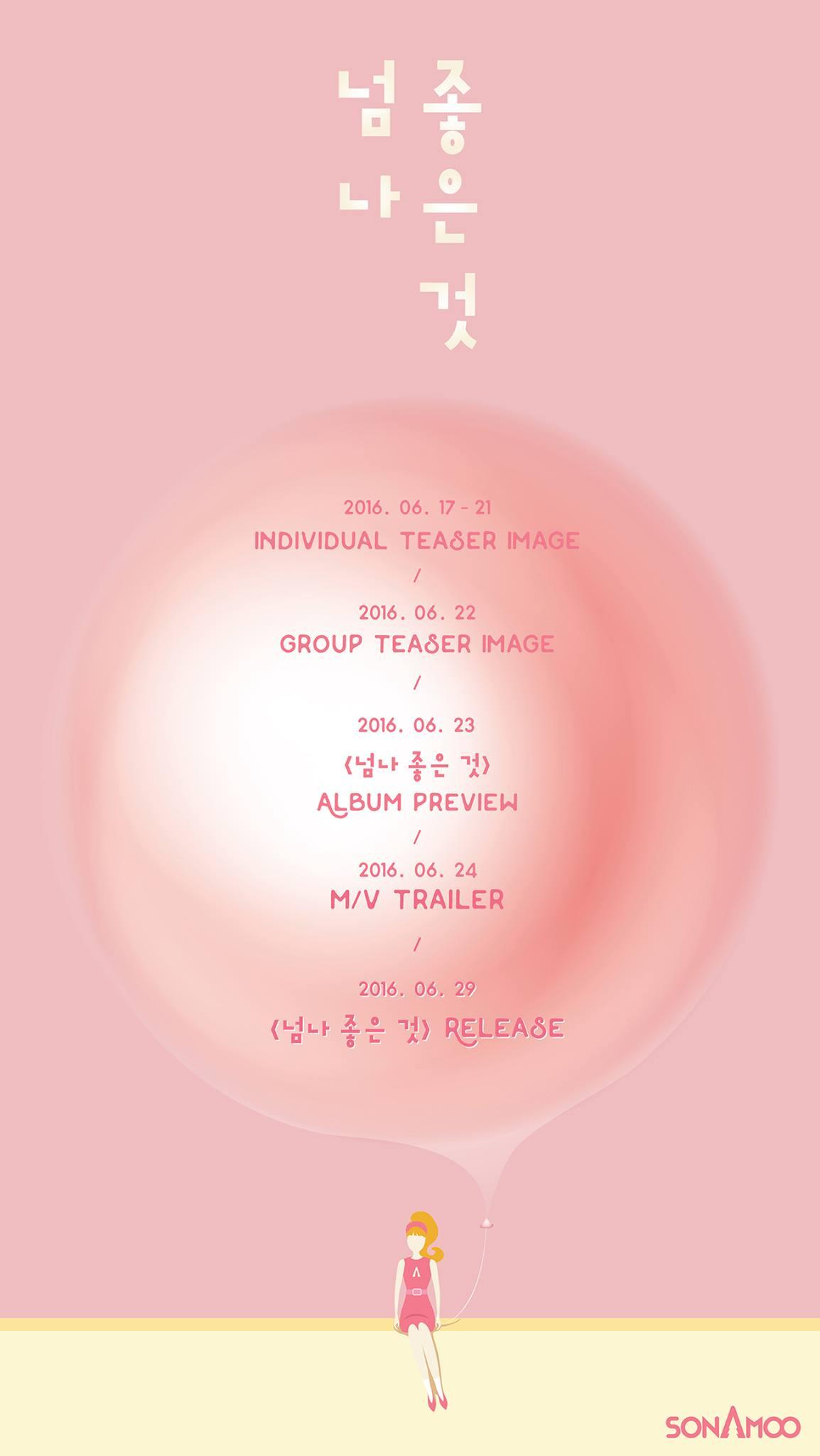 Sonamoo 3rd mini album too much schedule