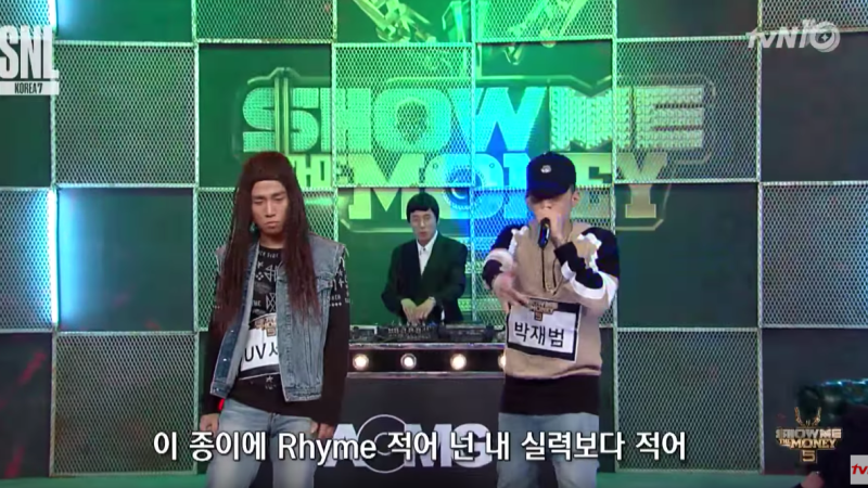 AOMG Artists Rap Struggle SNL Korea Cast In Show Me The Money Parody