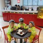 Song Triplets Enjoy Dessert After Exercising
