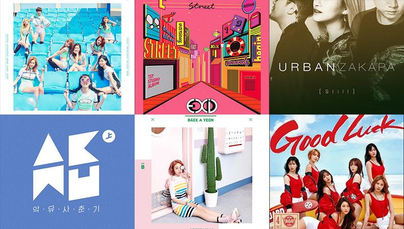 Weekly K-Pop Music Chart 2016 – June Week 3