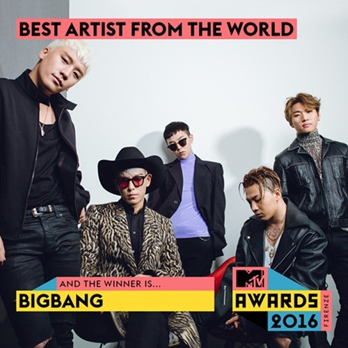 BIGBANG Takes Domestic Major Award From Italian MTV Awards