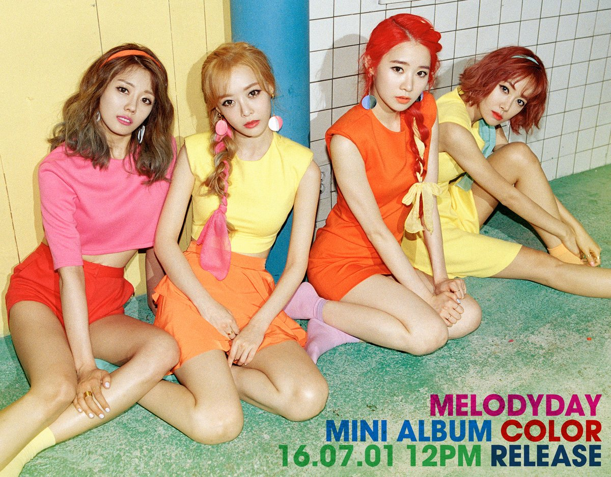 Melody Day Exhibits Teasers For First Mini Album Colors