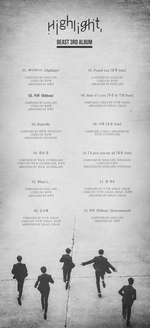BEAST Highlight Tracklist