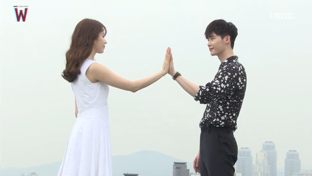 "Watch: Lee Jong Suk And Han Hyo Joo Ooze Adorableness Behind The Scenes Of ""W"""