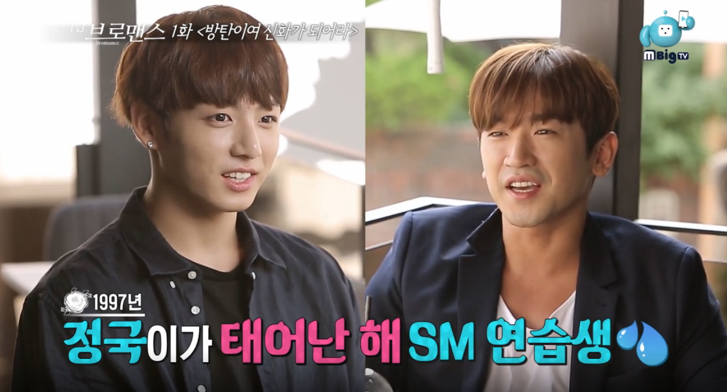 "Watch: BTS's Jungkook And Shinhwa's Minwoo Reveal On ""Celebrity Bromance"" What Shinhwa Taught BTS After Their Debut"