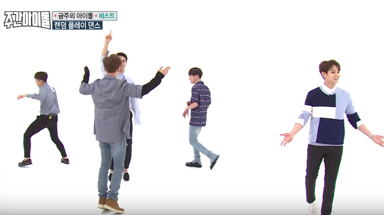 "Watch: BEAST Puts The Random In Random Play Dance On ""Weekly Idol"""