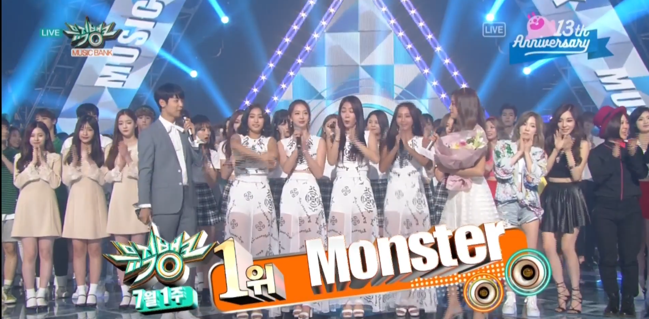 "Watch: EXO Gets 9th Win With ""Monster"" On ""Music Bank,"" Performances By Taeyeon, SISTAR, EXID, And More"