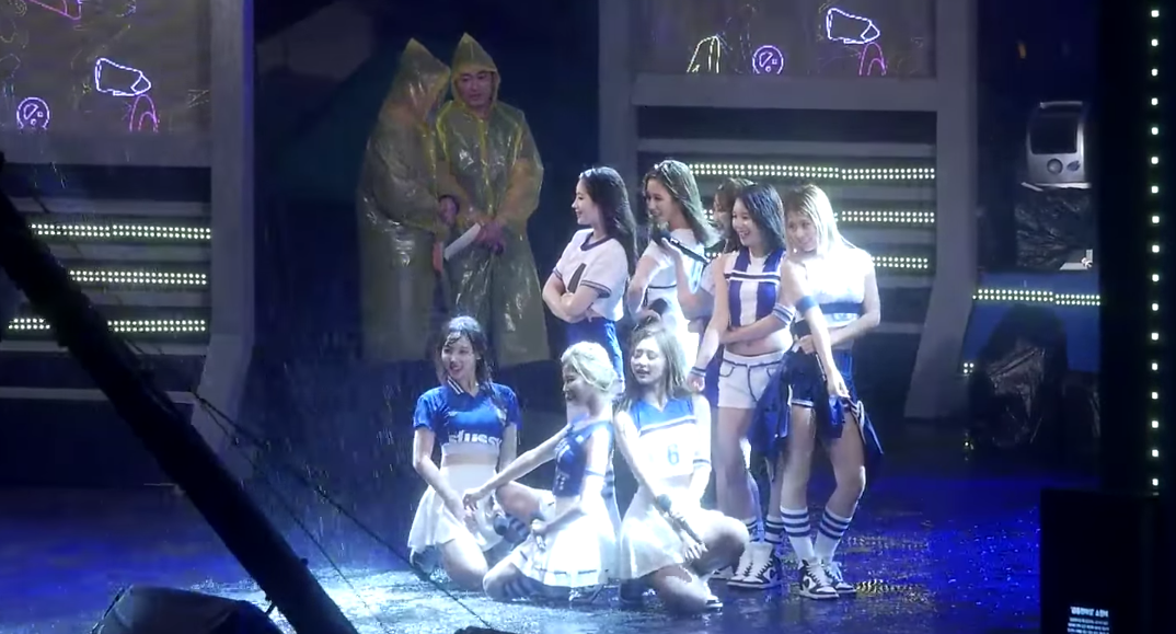 Watch: TWICE Keep Performing Flawlessly Despite Pouring Rain