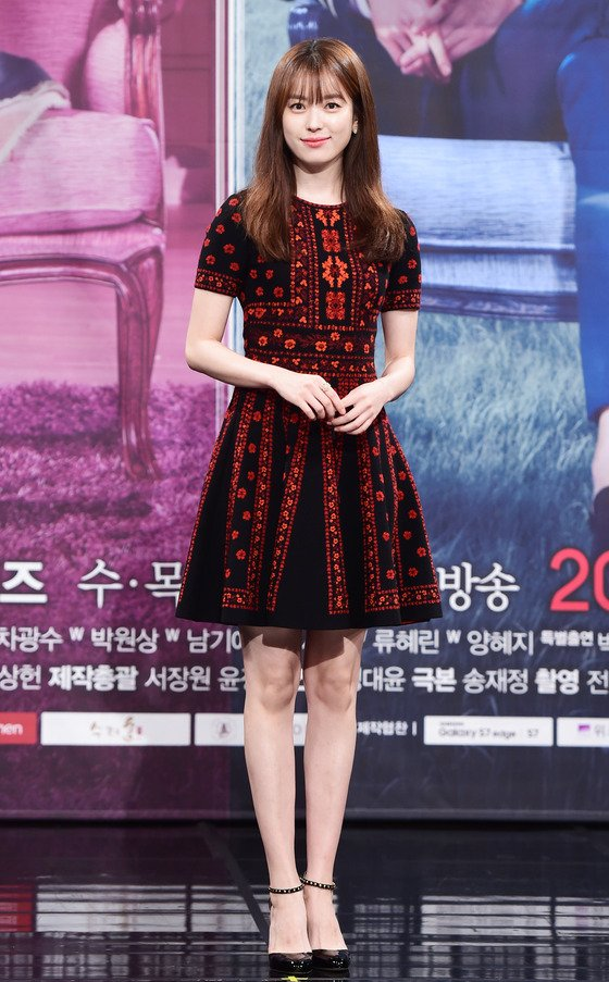 """Han Hyo Joo and Lee Jong Suk attended the """" W """" press conference ..."""