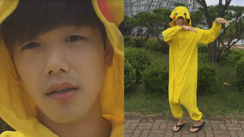 Watch: Eric Nam Dresses Up As Pikachu To Catch 'Em All In Sokcho