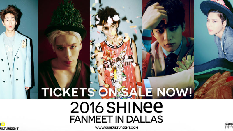Giveaway: Tickets To SHINees Fanmeet in Dallas