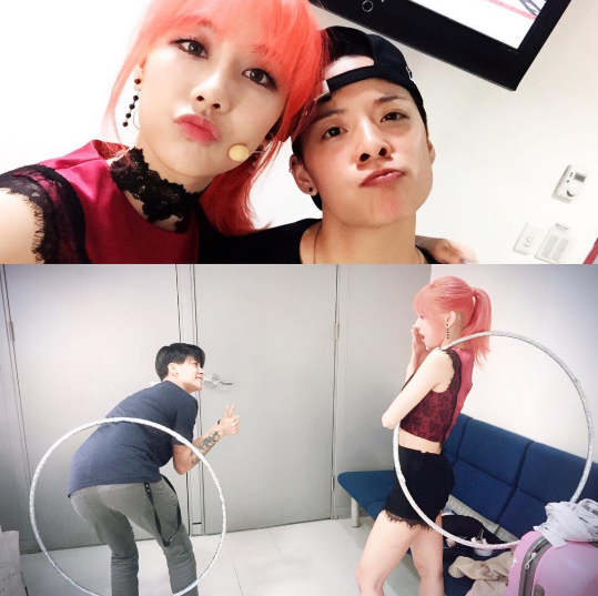 "f(x)'s Amber ""Auditions"" To Be A Backup Dancer For miss A's Fei"