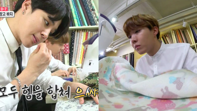 Watch: BTS's Jimin And J-Hope Sew Up A Storm As Interns On New Variety Show