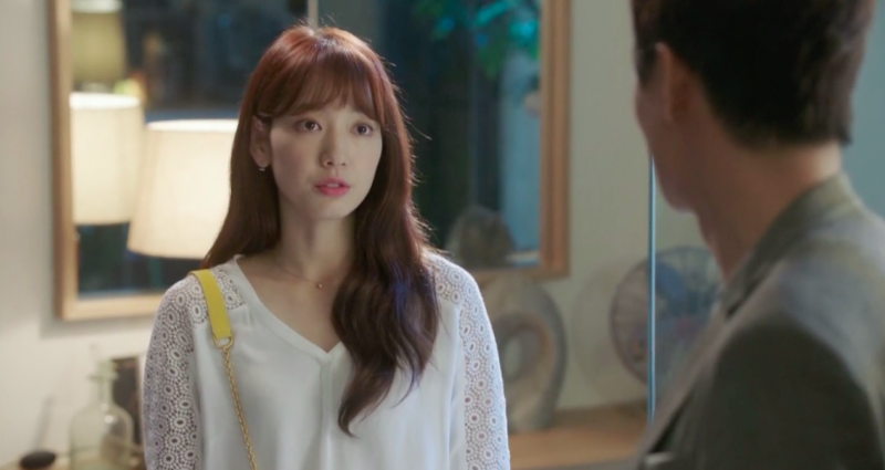 park shin hye fashion kiss me i'm wearing white top