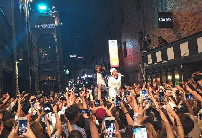 Watch: Song Mino And Bobby Faded Up Itaewon With Guerrilla Performance