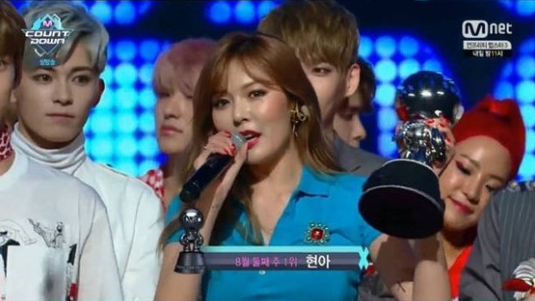 """Watch: HyunA Takes 1st Win For """"How's This?"""" On """"M!Countdown,"""" Performances By Jun.K, NCT 127, And More"""