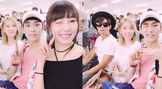 Girls' Generation's Tiffany And Taeyeon, And SHINee's Key And Minho Snap Shots Together On Way To Tokyo