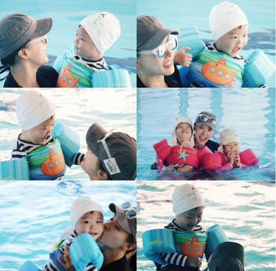 Daebak Is A Ball Of Happiness During Swimming Date With Mom And Sisters
