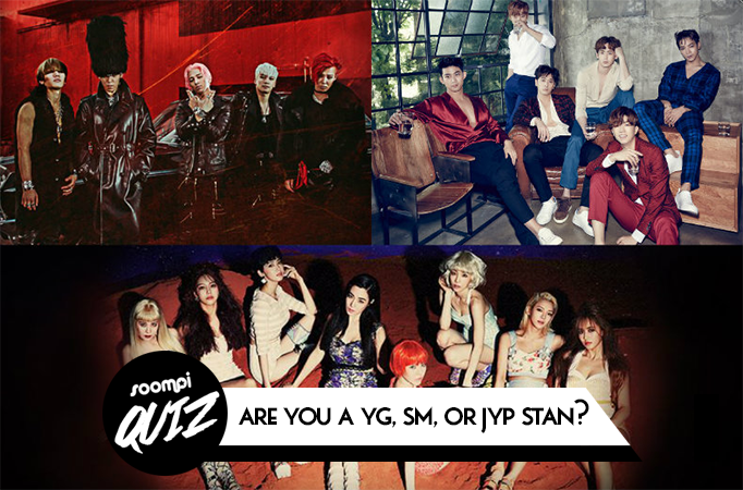 QUIZ: Are You A YG, SM, Or JYP Stan?