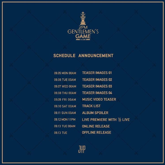 2PM Reveals September Comeback Schedule + More Details On 8th Anniversary
