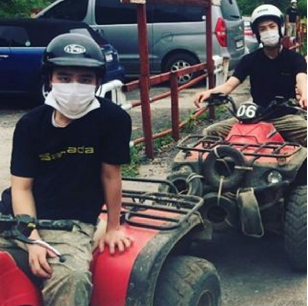 EXO's D.O. And Sehun Have Fun While Riding ATVs And Exploring Underwater