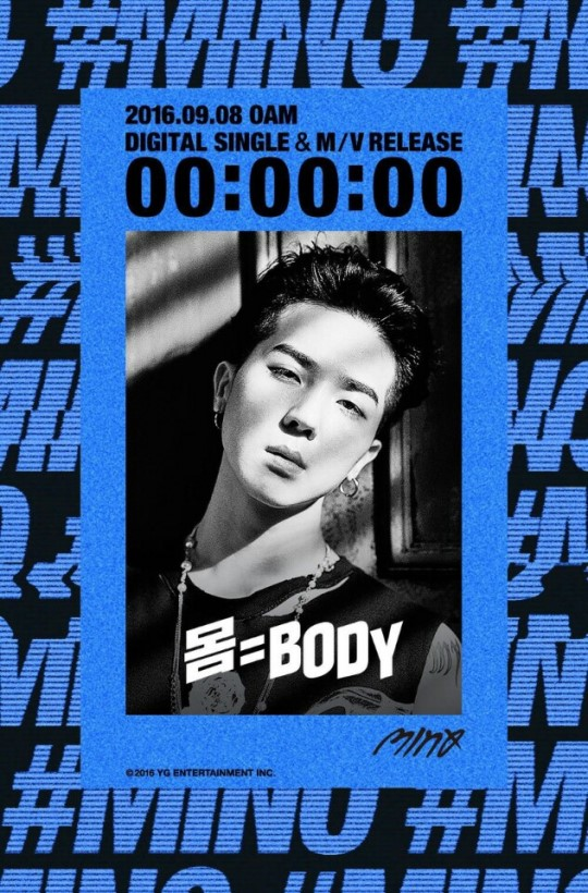 "WINNER's Song Mino Drops Countdown Timer For Solo Track ""Body"""