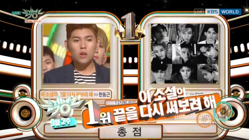 """Watch: Han Dong Geun Gets Very 1st Win On """"Music Bank,"""" Performances By Red Velvet, Ga In, VIXX, And More"""