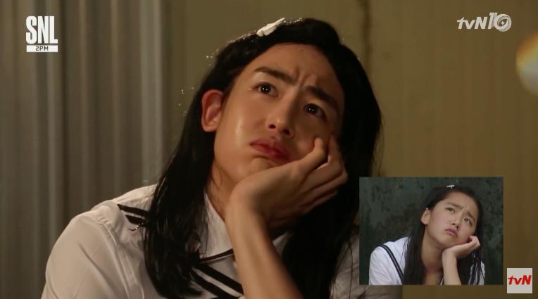 "Watch: 2PM's Nichkhun Transforms Into Eun Suh For Hilarious ""Autumn in My Heart"" Parody"