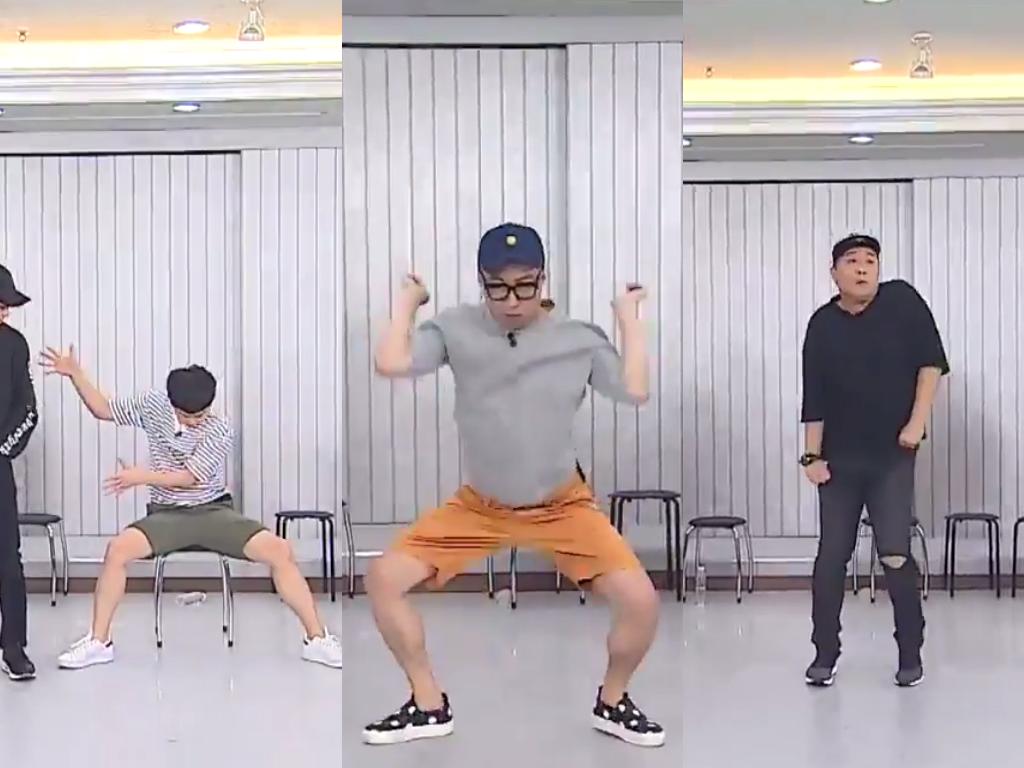 "Watch: ""Infinite Challenge"" Members Try Their Hand At Being EXO Members"