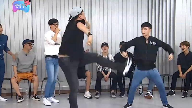 "Watch: ""Infinite Challenge"" Members Teach EXO How To Dance"