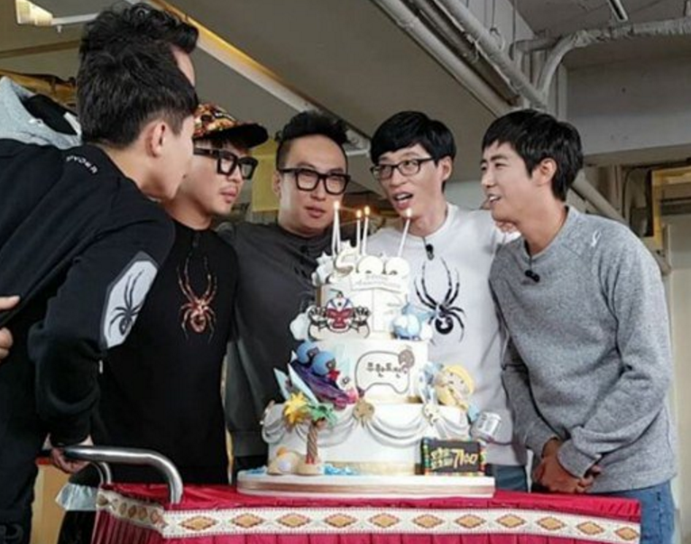 """""""Infinite Challenge"""" Celebrates Its 500th Episode With Epic Cake"""