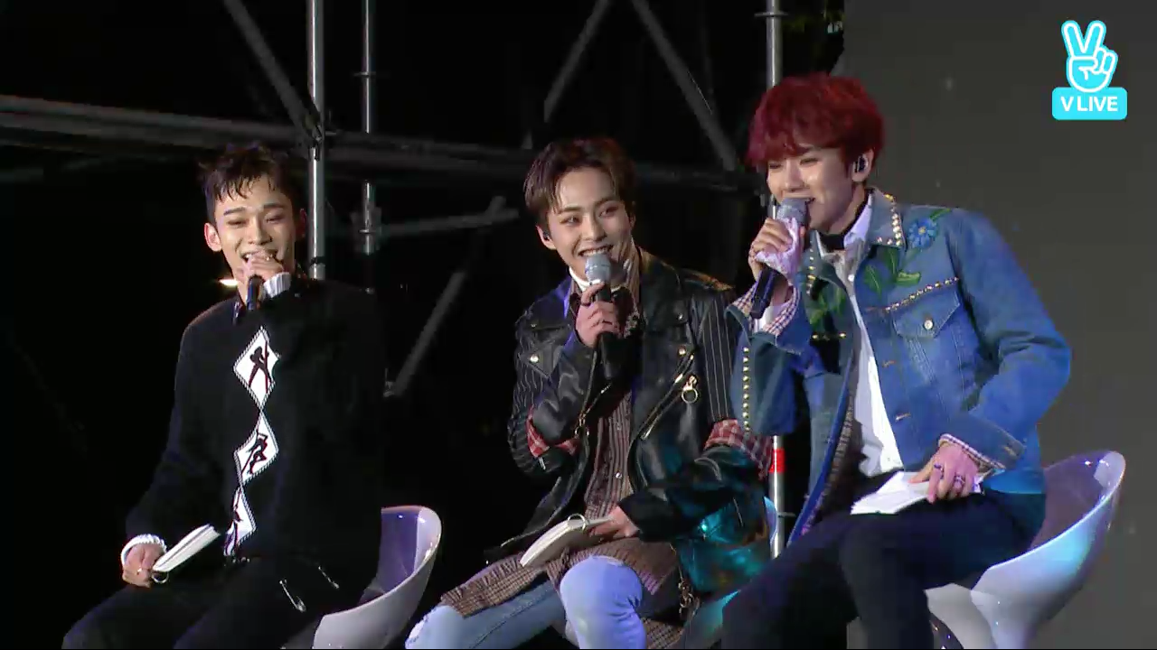 EXO-CBX Is A Bundle Of Fun And Energy While Talking To Fans And Performing At Showcase