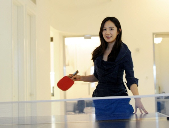 Girls' Generation Plays Ping Pong to Cool Down